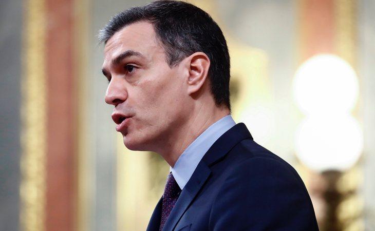 Pedro Sánchez durante su comparecencia en el Congreso por la crisis del coronavirus