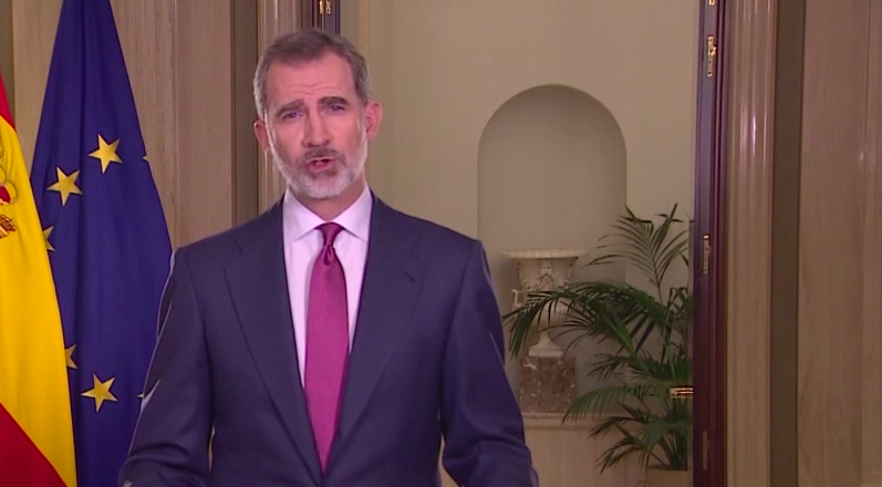 El rey pide unidad a todos los españoles en la lucha contra el coronavirus, agradece la labor de los sanitarios y pide respetar las recomendaciones ...