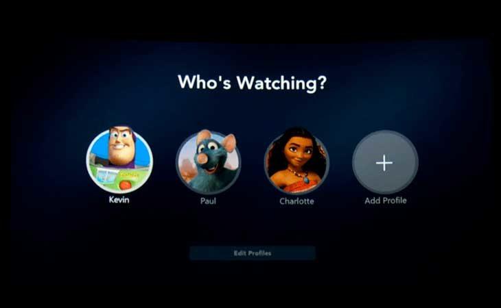 Siete perfiles distintos en tu cuenta de Disney+