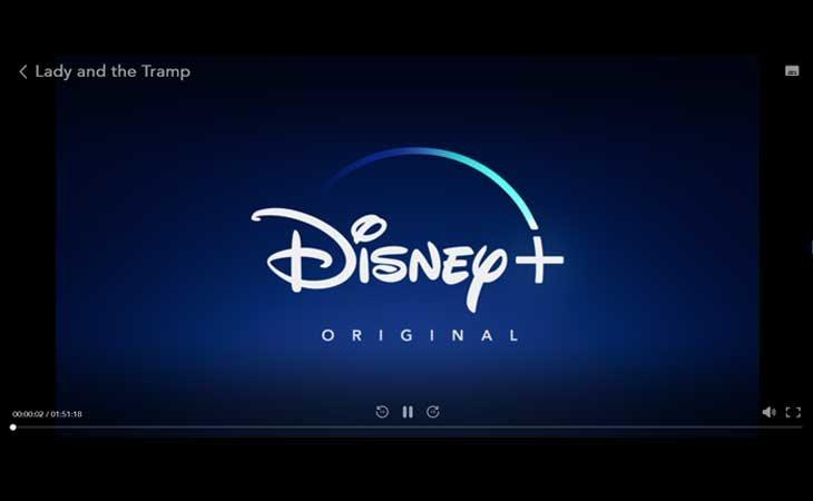 El reproductor de Disney+
