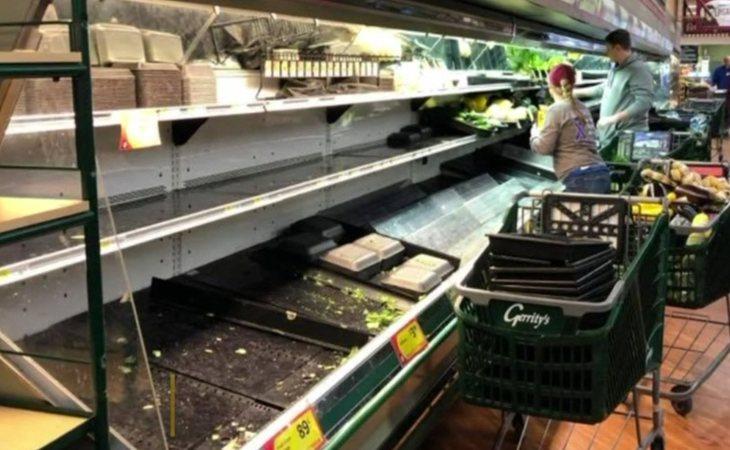 El supermercado tuvo que tirar la comida y desinfectar