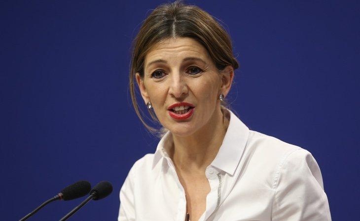 La ministra de Trabajo, Yolanda Díaz, ha prohibido los despidos durante la actual crisis