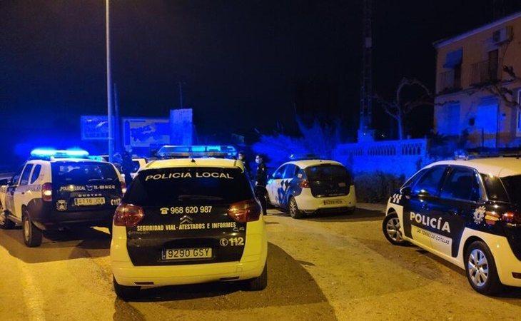 Despliegue policial en la zona de la fiesta