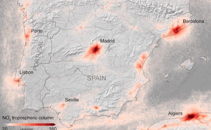 Mapa de España en marzo de 2019