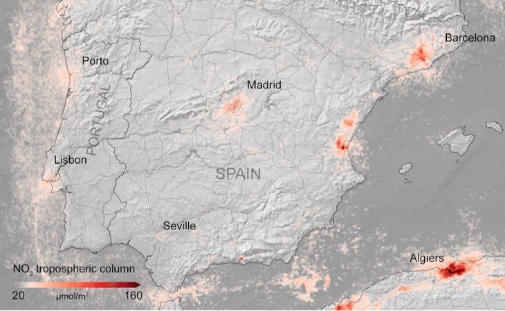 Mapa de España en marzo dde 2020