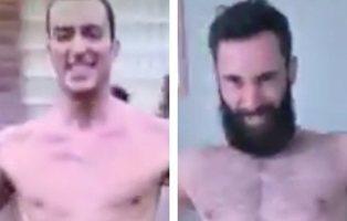 Dos franceses parodian la cabecera de 'Un paso adelante' durante el confinamiento