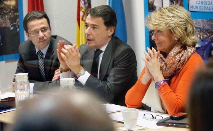 Lasquetty (izq) fue rescatado como consejero de Hacienda en el gobierno que PP y Ciudadanos mantienen en la Comunidad de Madrid
