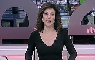 """La presentadora del """"pepino"""" del 24h de TVE que da los datos del coronavirus como la lotería"""
