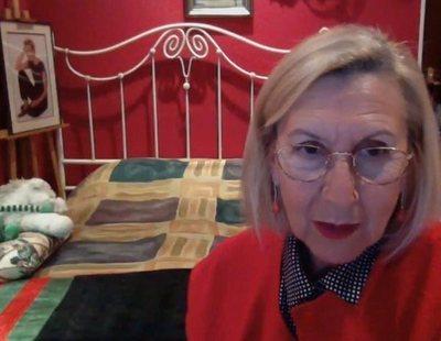 Rosa Díez desata la locura en las redes tras mostrar su habitación en un directo