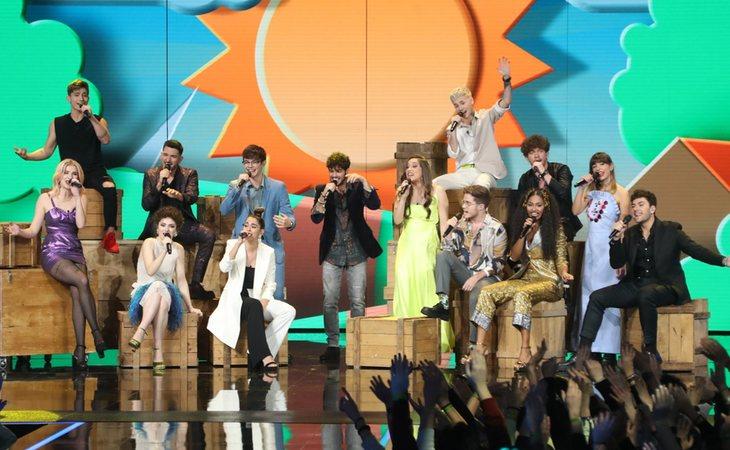 Concursantes de 'OT 2020' cantando 'Díselo a la vida', himno de la edición