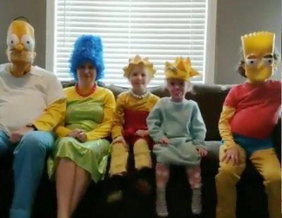 Una familia recrea la cabecera de 'Los Simpson' durante el confinamiento y el resultado es maravilloso
