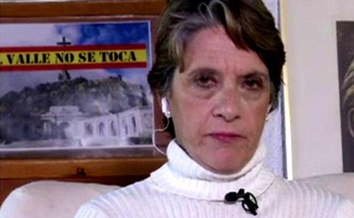 Pilar Gutérrez en una de sus partcipaciones televisivas