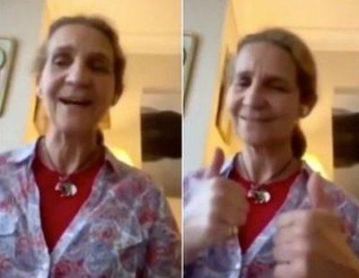 La infanta Elena se hace viral cantando 'Resistiré' y las redes la comparan con Rosendo