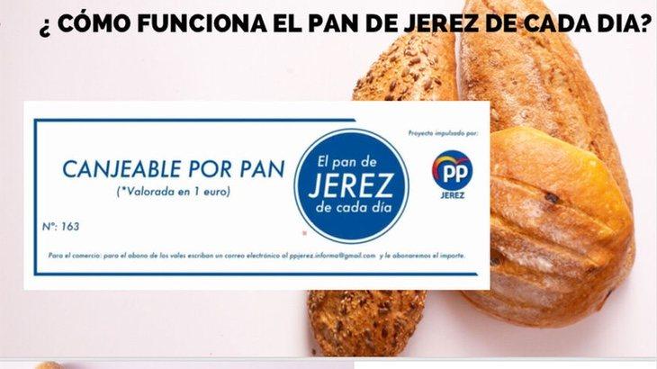 El cupón que el PP de Jerez distribuye entre las familias más vulnerables