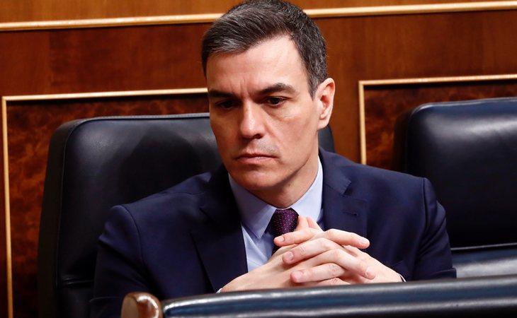 Pedro Sánchez, presidente del Gobierno, en el Congreso de los diputados