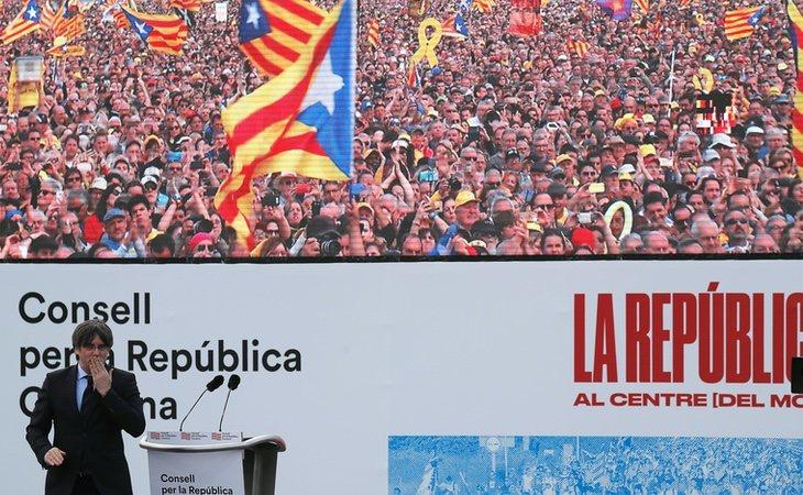 El independentismo congregó a 150.000 personas en Perpignan dos semanas antes del estado de alarma