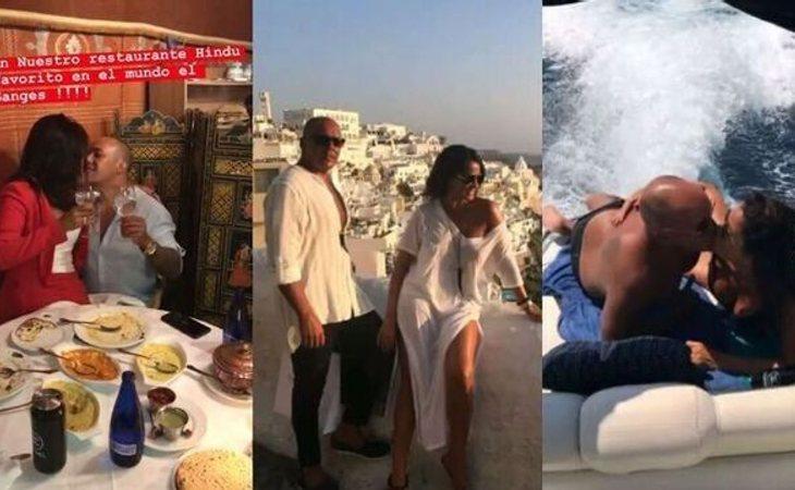 Imágenes de Aída Nízar junto a su novio Fernando compartidas en redes sociales