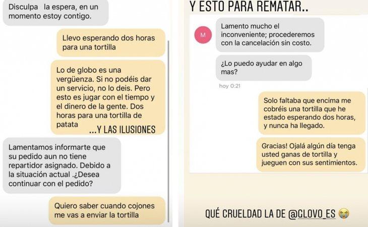 Conversación de Jon Kortajarena con el repartidor de Glovo