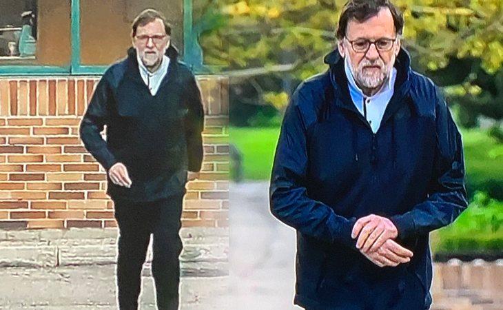Mariano Rajoy durante una de sus caminatas en pleno estado de alarma