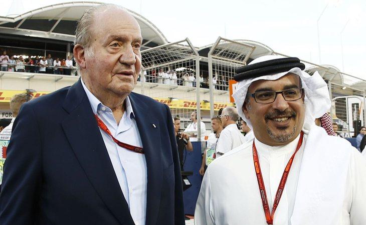 El rey Juan Carlos I y el monarca de Baréin, Hamad bin Isa Al-Khalifa