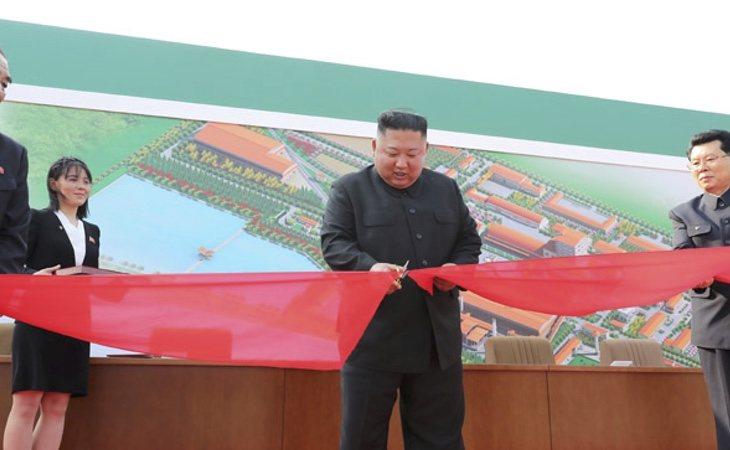 Kim Jong-un, durante su última aparición pública