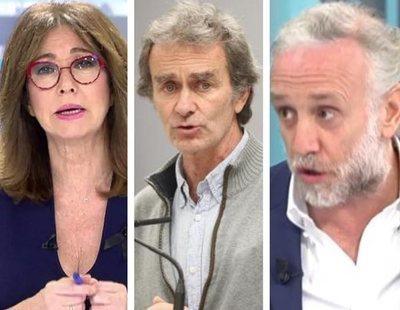 """Eduardo Inda insulta a Fernando Simón y Ana Rosa se mofa: """"En su casa le querrán"""""""
