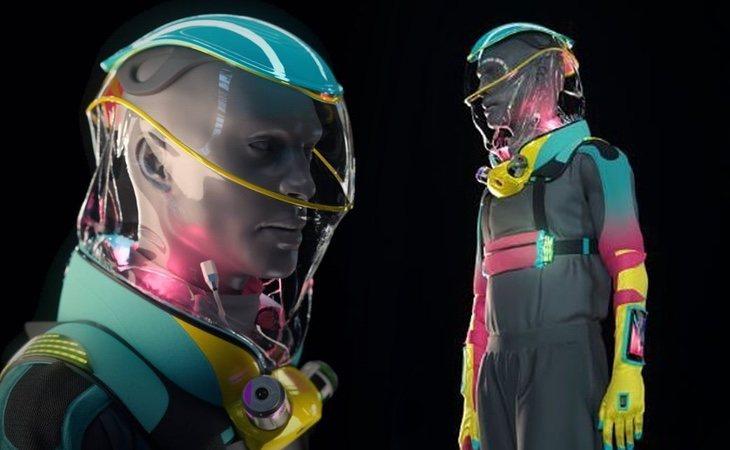 El traje está enfocado a la protección frente al coronavirus, permite combinar con la ropa, aunque se recomienda vestir mono y permite consumir bebidas o tener sexo sin desprotegerse frente al Covid-19