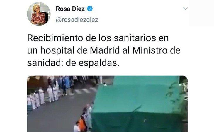 Mensaje de Rosa Díez difundiendo el bulo