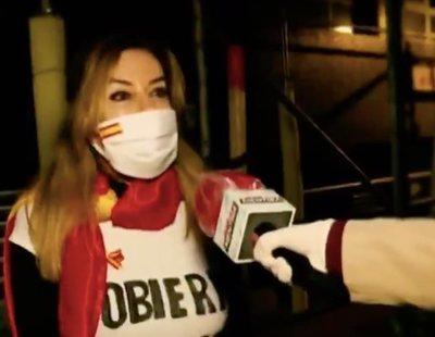 """El 'drama' de una manifestante del barrio de Salamanca: """"¡Ni han abierto El Corte Inglés!"""""""