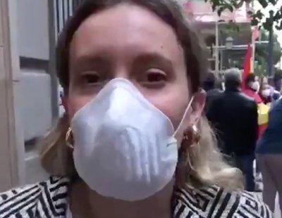 """La última manifestante viral del barrio de Salamanca: """"O sea, el Gobierno lo hace fatal"""""""