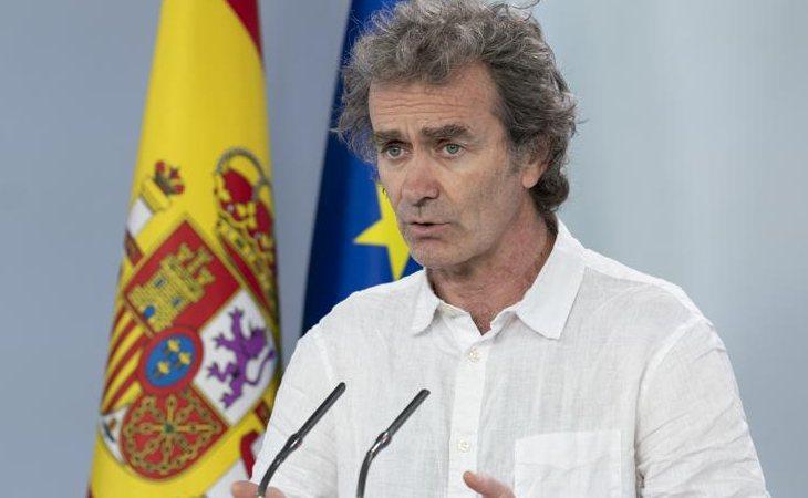Fernnao Simón en rueda de prensa informando de las novedades del coronavirus