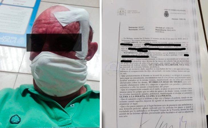 El sindicalista agredido ha presentado una denuncia ante la Policía Nacional