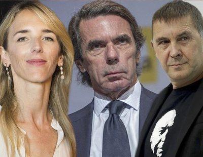 Aznar compara a Cayetana Álvarez de Toledo con Otegi para criticar la denuncia del padre de Iglesias