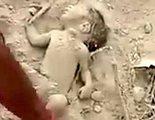 El milagroso rescate de un bebé de pocos días que había sido enterrado vivo