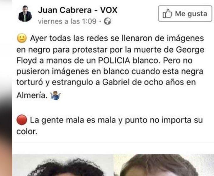 El comentario publicado por Juan Cabrera