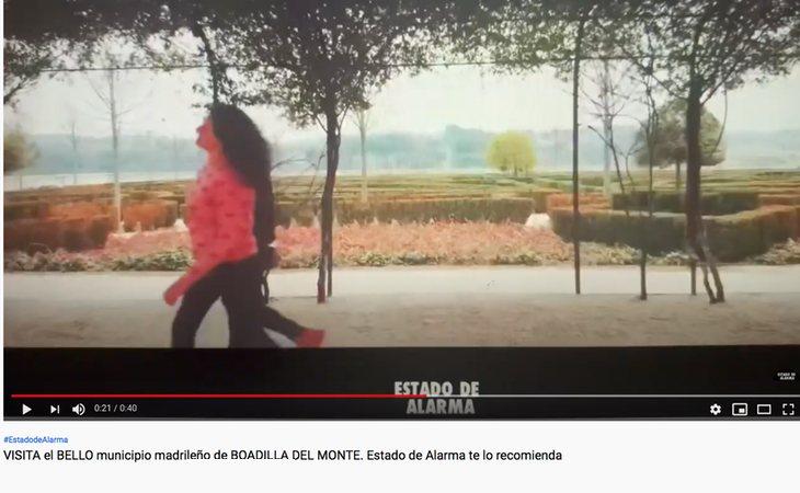 Publicidad (cutre) del Ayuntamiento de Boadilla del Monte en el canal de YouTube de Javier Negre