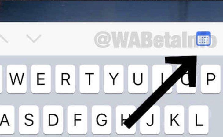 El icono del calendario se posicionará sobre el teclado y permitirá localizar mensajes por fecha