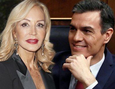 """La polémica felicitación de Carmen Lomana a Pedro Sánchez: """"Ese debe ser el camino"""""""