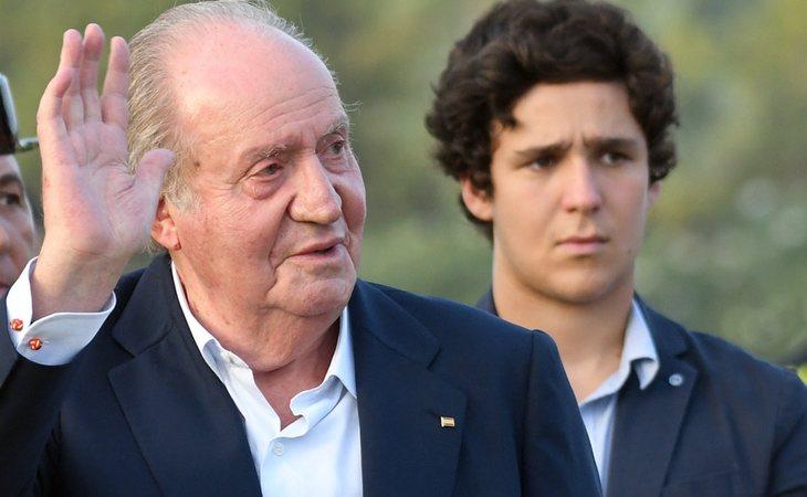 El rey Juan Carlos junto a su nieto Froilán