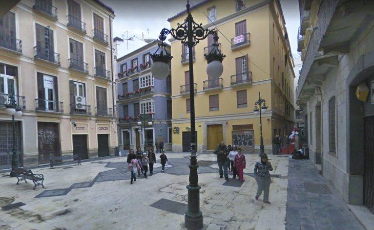 Los hechos tuvieron lugar en la plaza Marqués del Vado Maestre, en pleno centro de Málaga