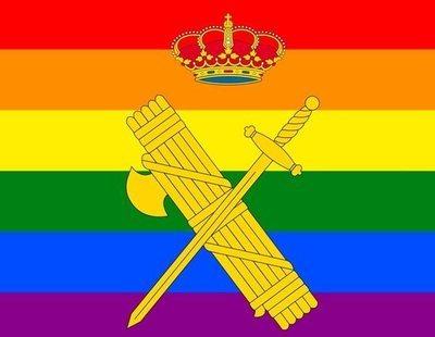 """La Guardia Civil se pone la bandera LGTBI en Twitter, que se llena de """"lágrimas de facha"""""""
