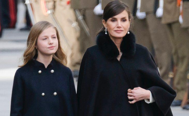 La princesa Leonor y la reina Letizia en la apertura de la legislatura