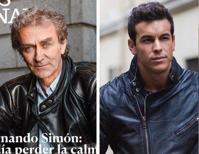 Mario Casas reacciona a las comparaciones virales con Fernando Simón en moto