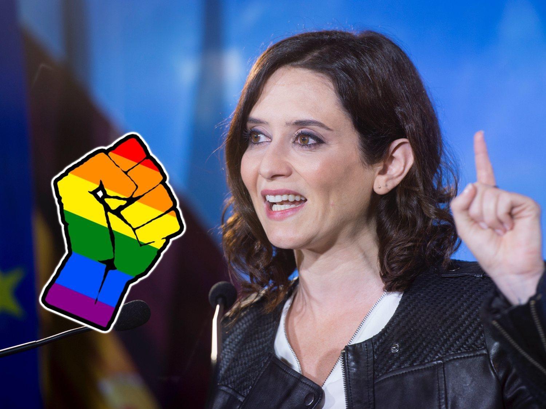 """Ayuso carga contra el activismo LGTBI: """"Crean víctimas como modo de vida"""""""