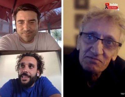 Cachondeo con el trío Spiriman, Javier Negre y Quique San Francisco para 'solucionar la pandemia'