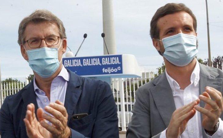 Gala la moderación de Feijoo frente al ruido de Pablo Casado