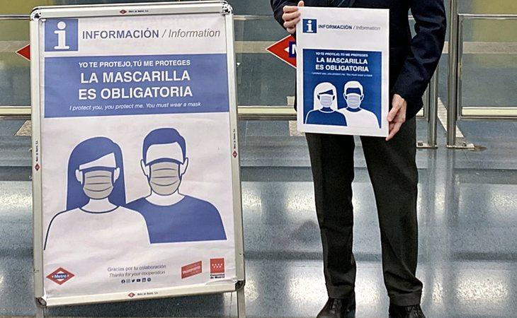 El uso de la mascarilla en el transporte público es obligatorio