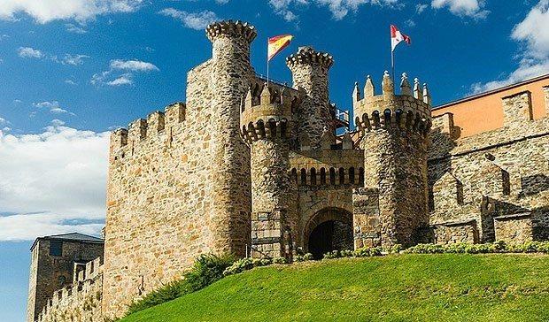 Castillo de  los Templarios de  Ponferrada