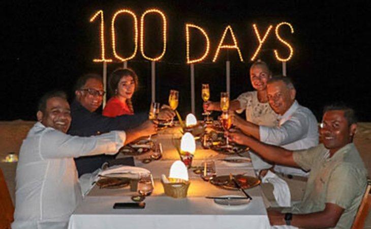 El hotel organizó una fiesta en la playa porque eran los clientes con mayor estancia en la historia del resort