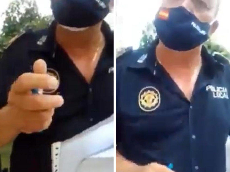 """""""Habeas corpus"""": el viral vídeo de un policía por su paciencia con una mujer sin mascarilla"""